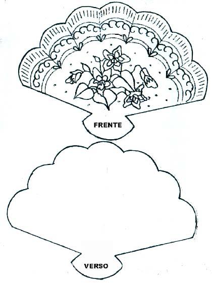 Plantilla de Abanico para Invitaciones.