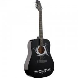 Đàn guitar Acoustic Stagg SW203 Tribal (Dáng tròn)