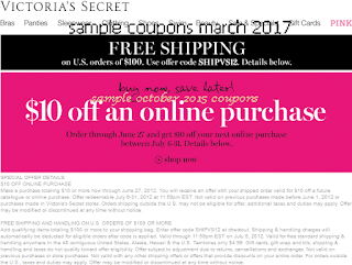 Victoria's Secret coupons for march 2017