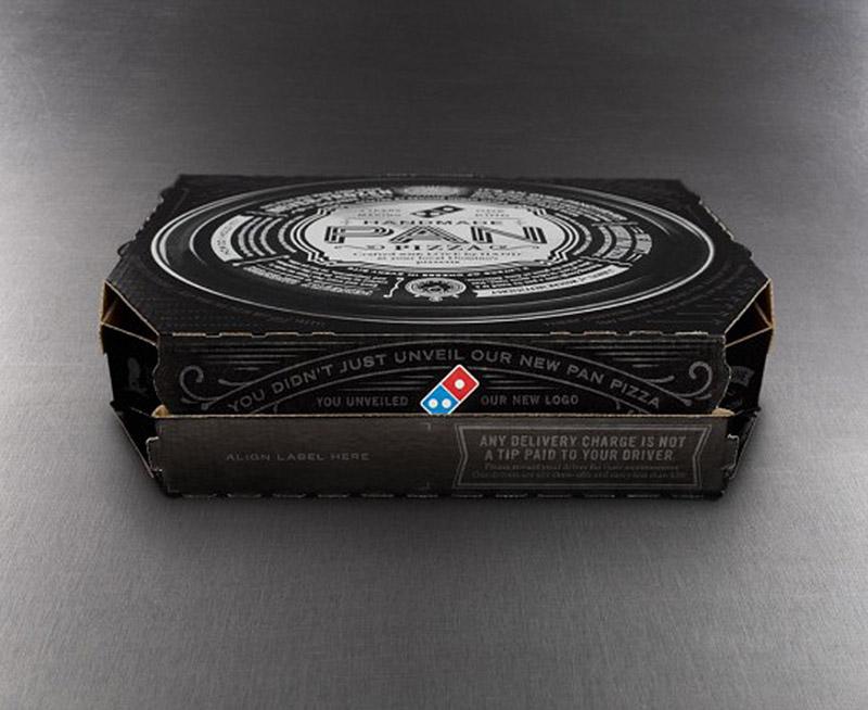 Pizza Box for Domino's Handmde Pan Pizza