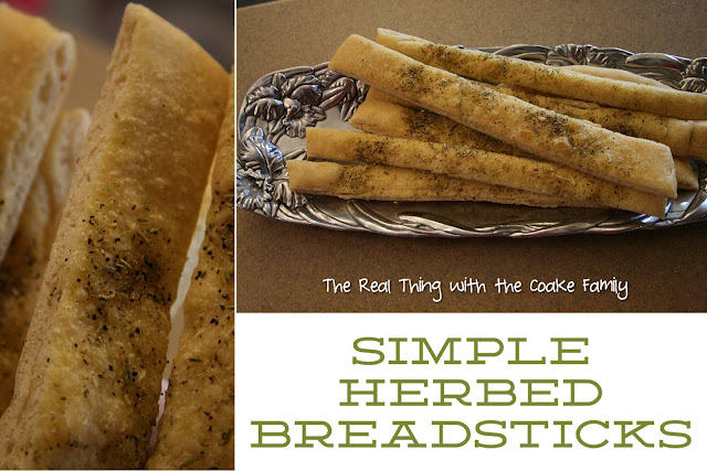 Herbed Breadsticks in a dish