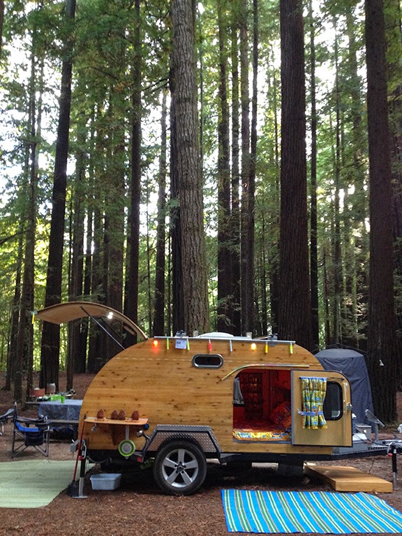 Teardrop Trailer With Bathroom: Tiny Yellow Teardrop: Tall Trees & Tiny Trailers
