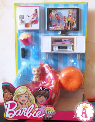 Мебель и аксессуары для куклы барби Вечер у телевизора