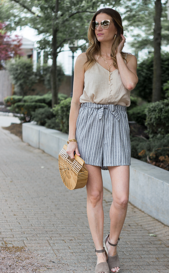 How to style high waisted shorts #tiefrontshorts