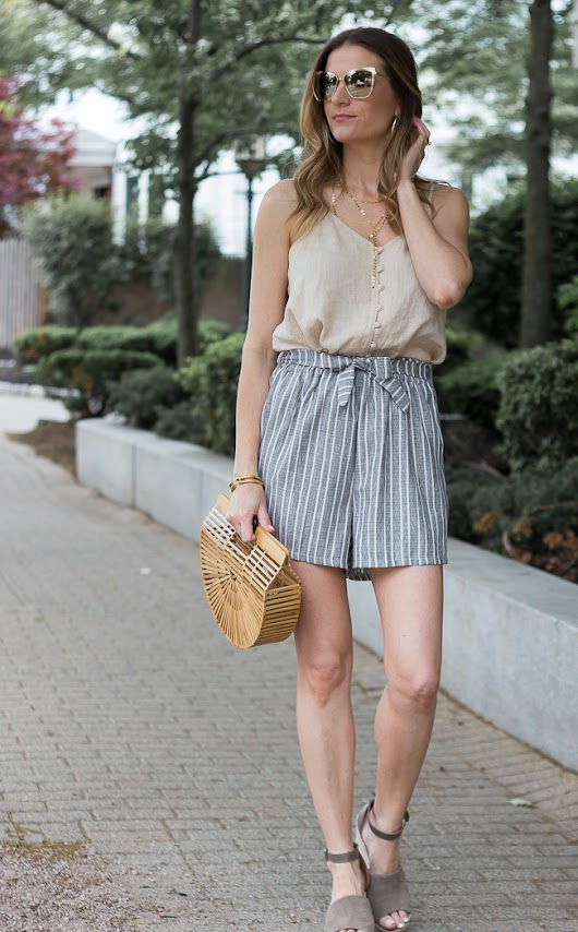 Tie Front Shorts and the Best Linen Cami