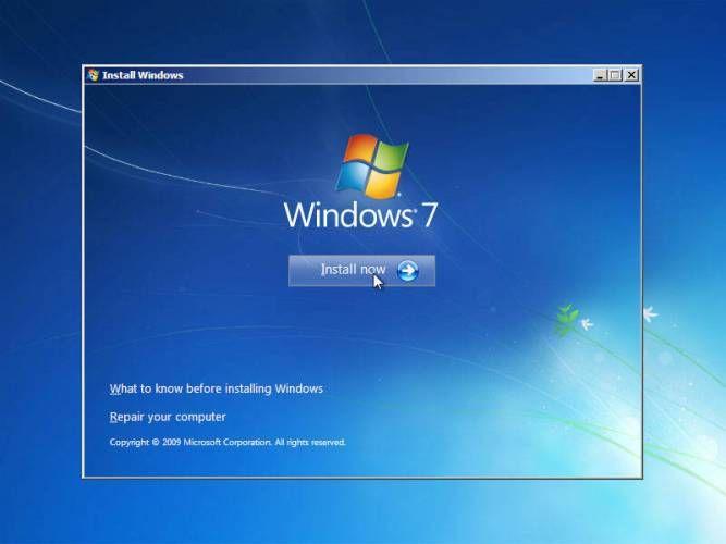 langkah 8: cara instal windows 7, memulai instalasi