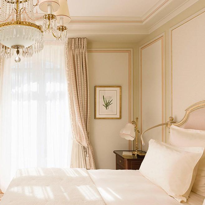 Beautiful luxurious guest suite at Ritz Paris