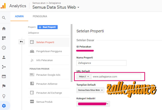 Setting Ulang Pengaturan Google Analytics