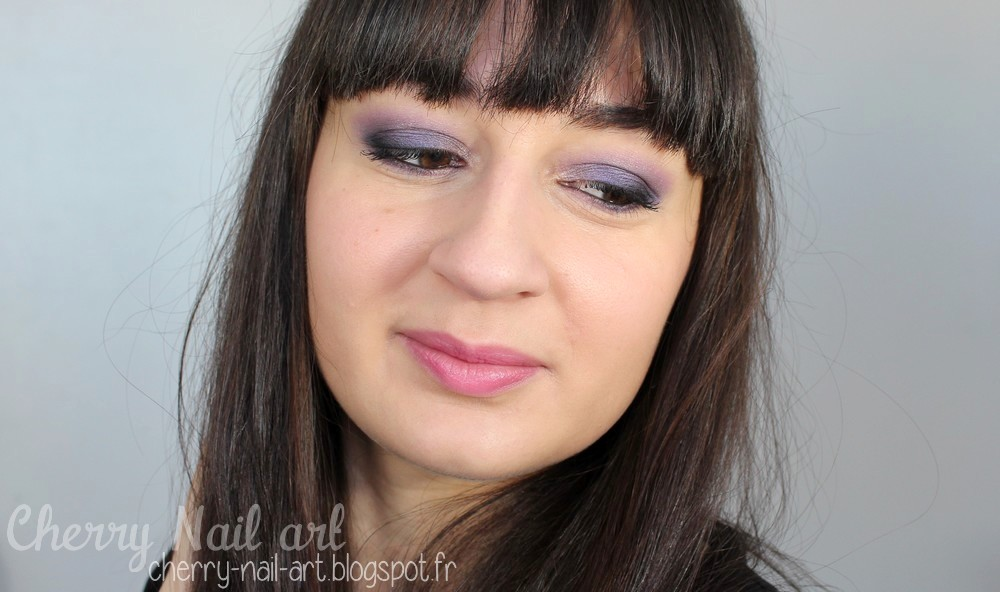 maquillage smoky eyes violet rose pour le printemps