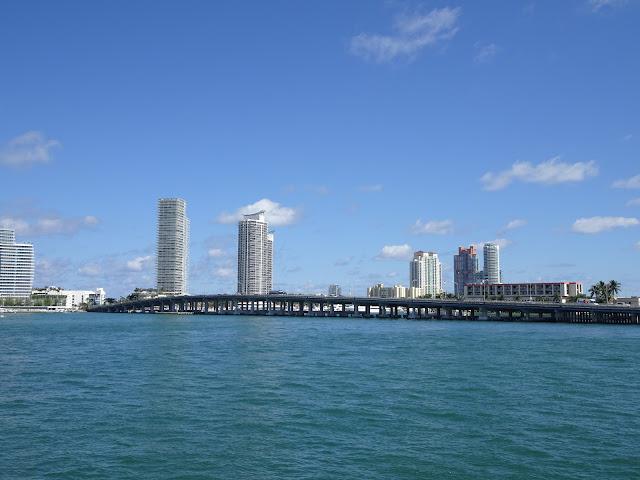 Vista de Miami Beach desde el barco