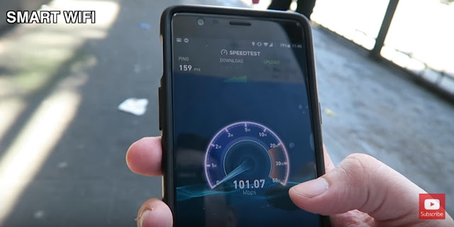 Free Wifi on EDSA reaches over 100mbps