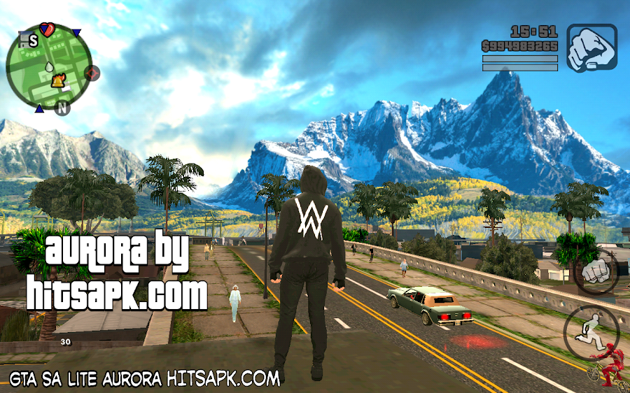 download GTA SA Lite AURORA MOD APK terbaru