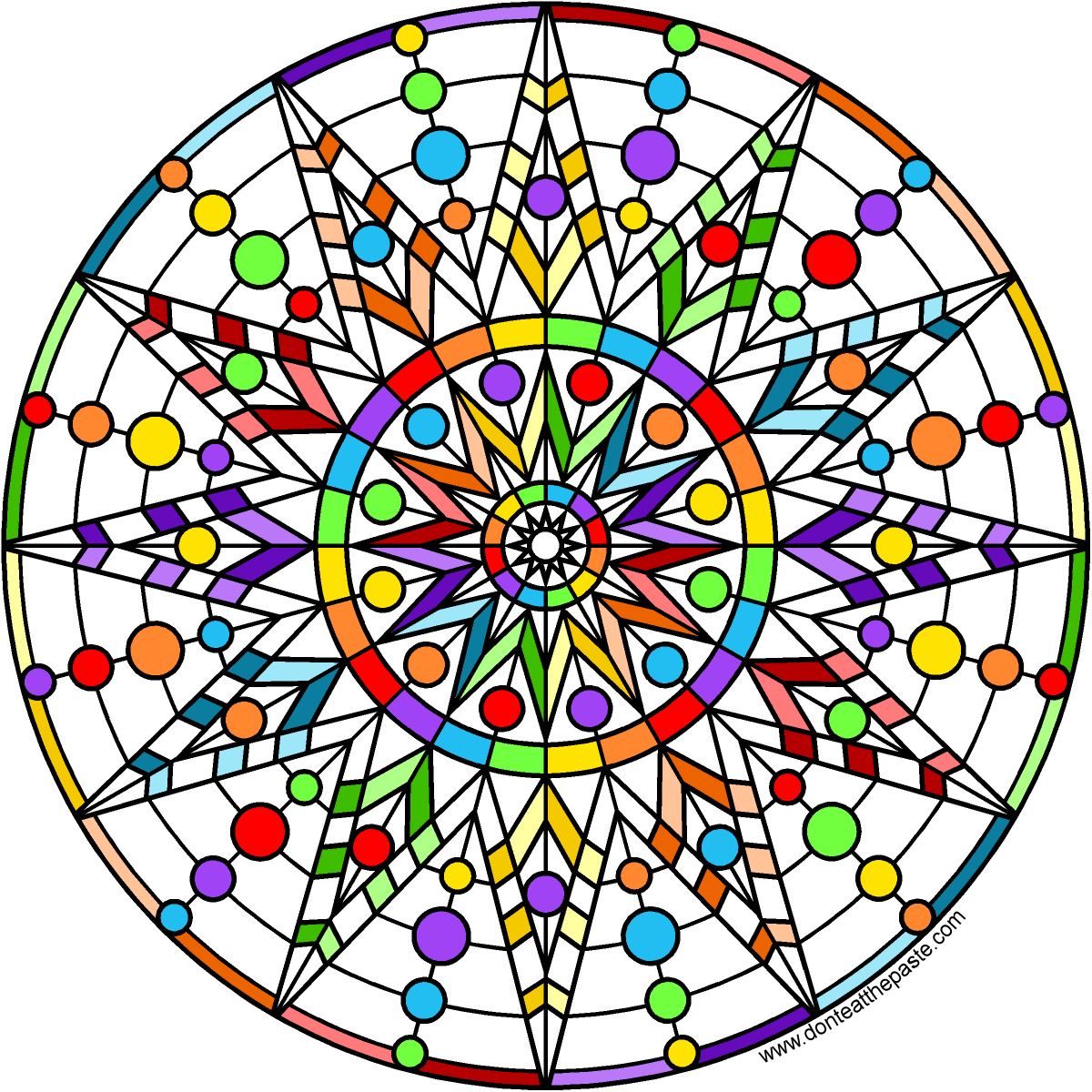 Stress Less Coloring  Mandalas 100 Coloring Pages for