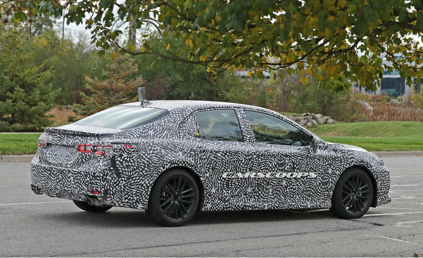 spied is toyota cooking a 2018 camry trd performance model carscoops. Black Bedroom Furniture Sets. Home Design Ideas