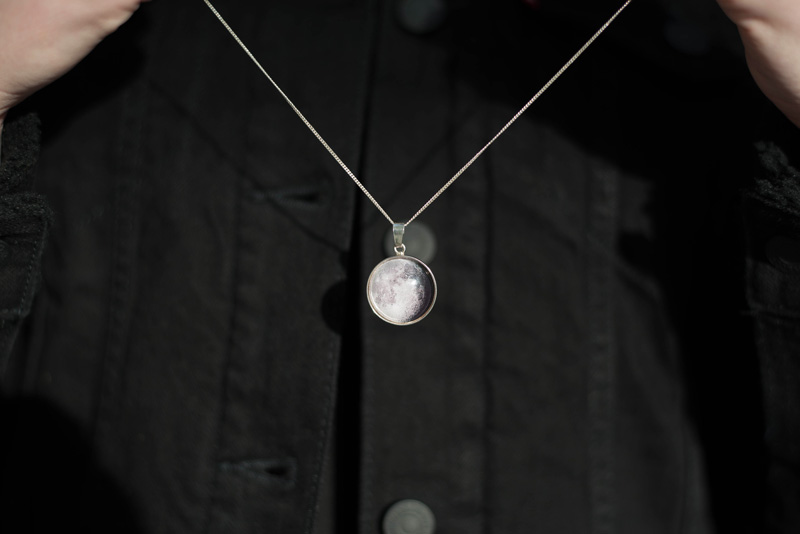 Chilli and Lime Moon Phase Necklace