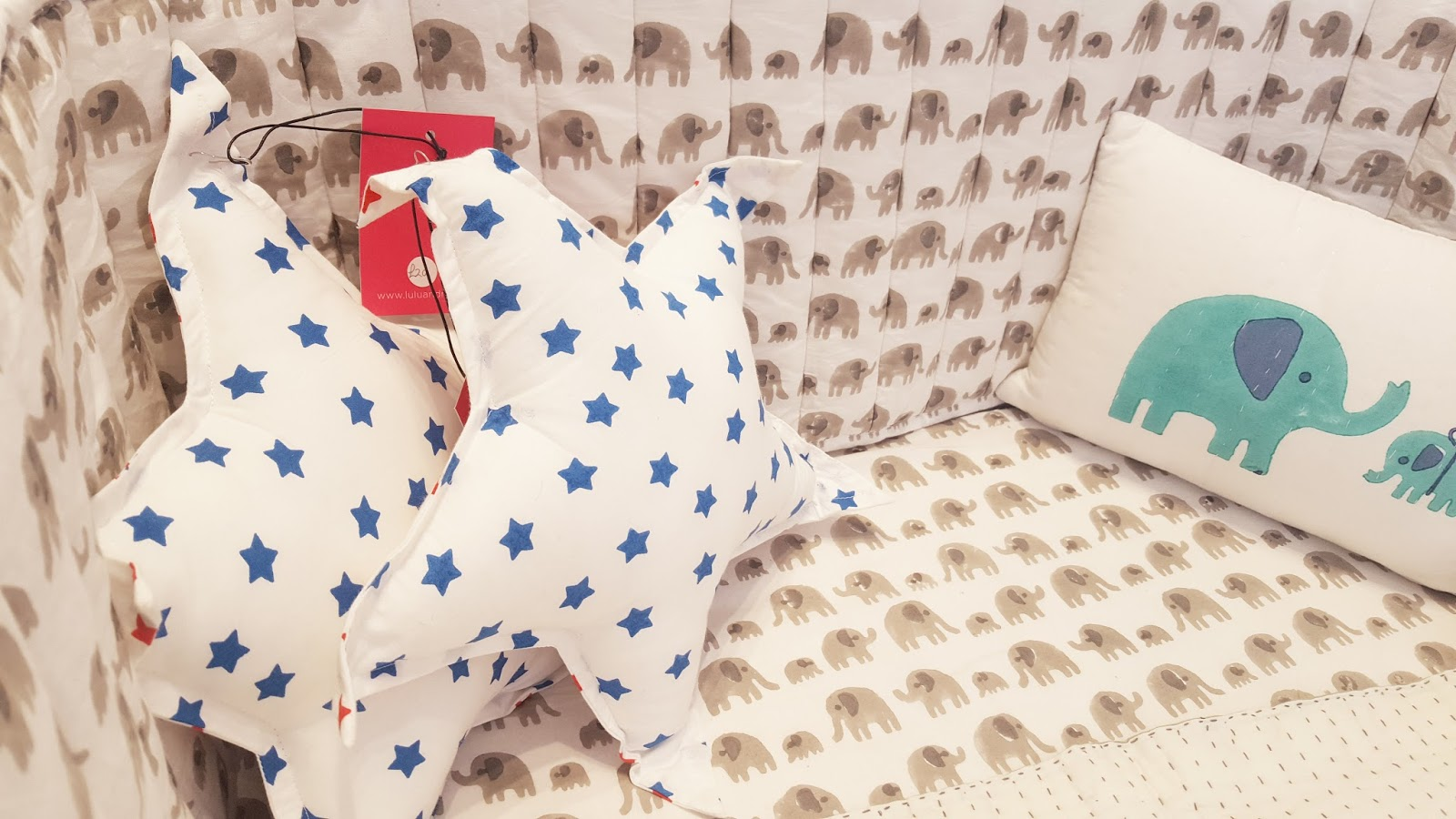 lulu and nat cushions, starry cushions