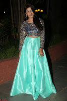 Nikki Galrani in Green Skirt  Top at Marakathamani music launch ~  Exclusive (29).JPG