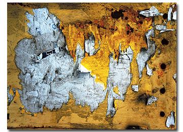 abstract, industrial, wall art, yellow, black, white, canvas art, contemporary, landscape, large art, modern, Sam Freek, artist,