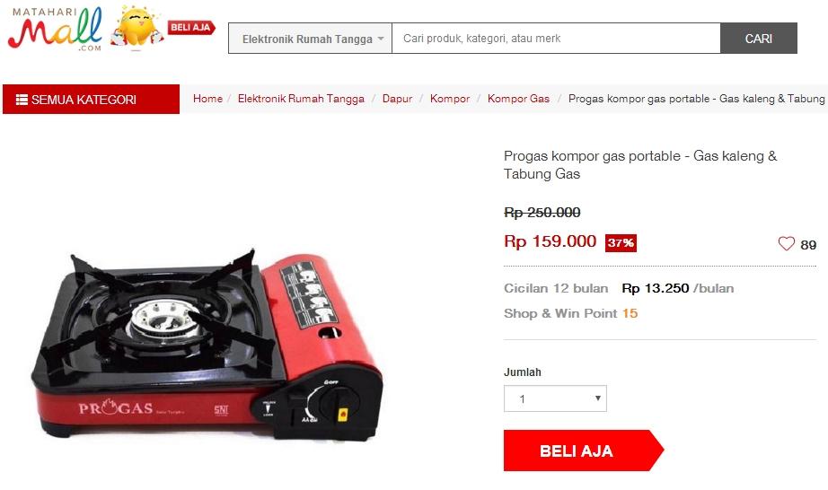 Wah Murahnya Harga Kompor Gas Portable Ini
