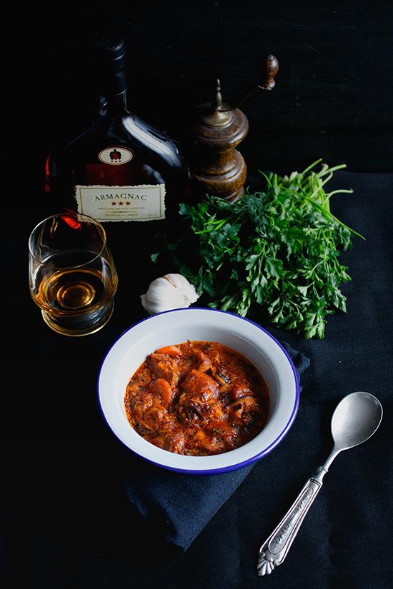 Burgundska govedina sa konjakom i belim vinom