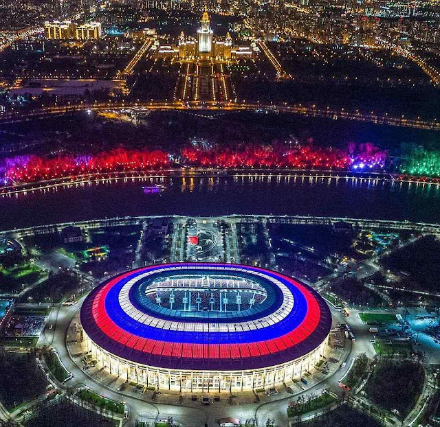 Estadio Luzhniki de Moscou onde a Copa 2018 começou e terminou