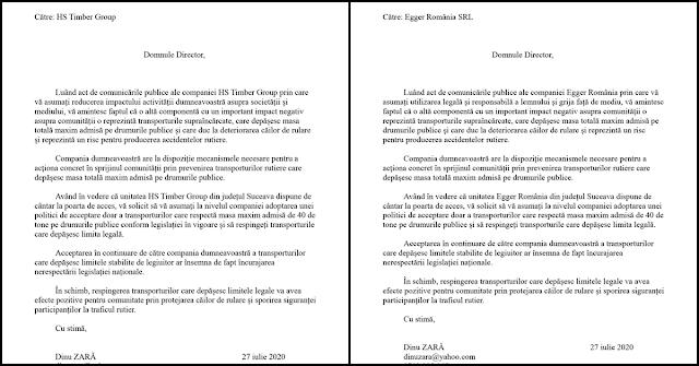 Solicit companiilor Egger și HS Timber Group să înceteze recepționarea transporturilor de lemn supraîncărcate, care depășesc masa maxim autorizată