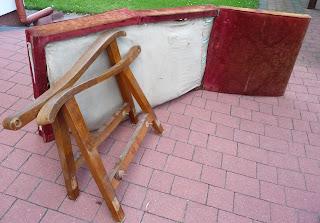 odnawianie rozkładanego fotela PRL