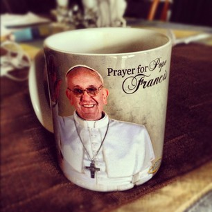 Pope Francis Coffee Cup