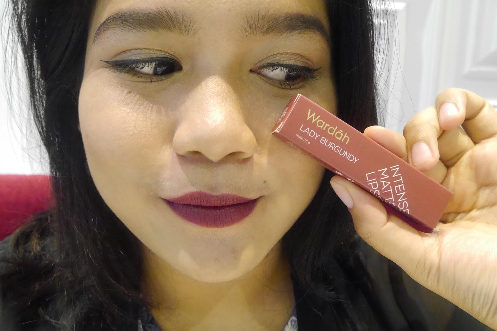Wardah Intense Matte Lipstick Lady Burgundy Daftar Harga Terbaru Passionate Pink 07 25gr Source Shade