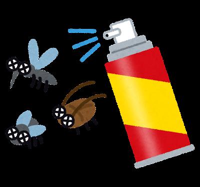 殺虫剤のイラスト