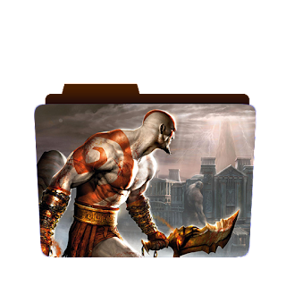 Preview of god of war, scene, game icon, god of war folder icon