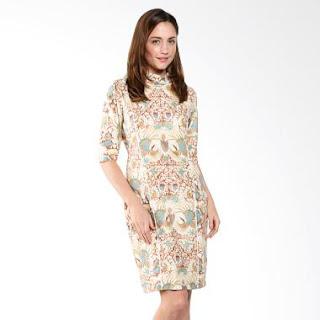 Contoh Model Baju Batik Kerja Kombinasi