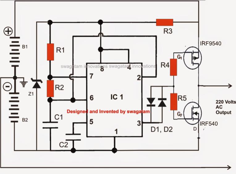 Making A Transformerless Solar Inverter Circuit