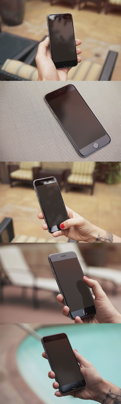 5 Free Photorealistic iPhone 6 Mockups