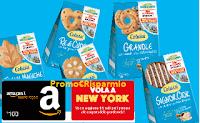 Logo Concorso Colussi '' Vinci in tutti i sensi'': 150 buoni Amazon da 100€ e 1 viaggio a New York