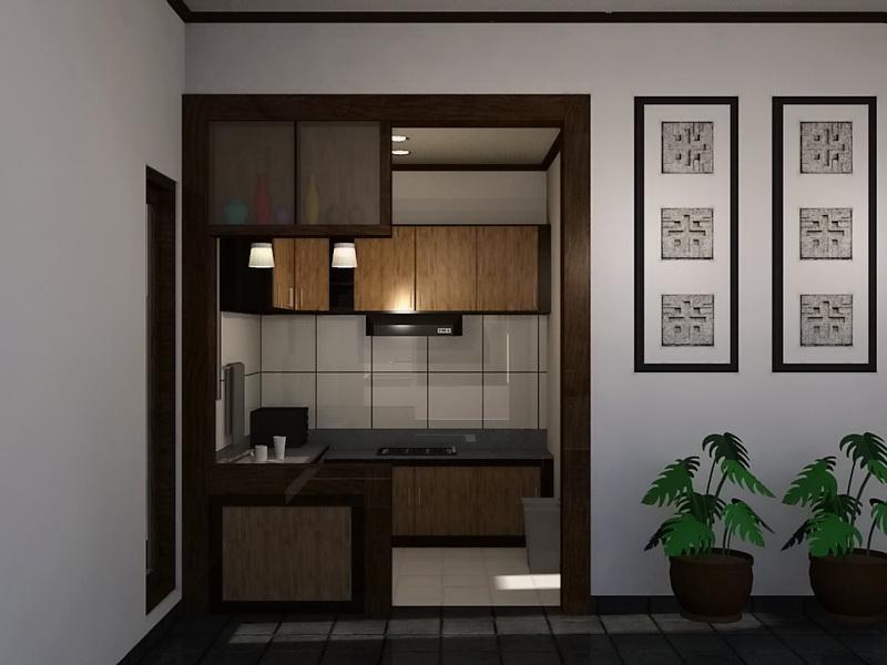 dapur pojok rumah kecil minimalis