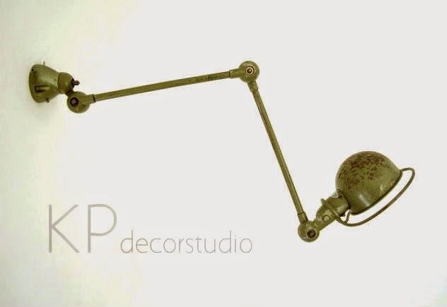 Aplique industrial jielde francia años 50 y 60. Lámparas y flexos vintage auténticos.