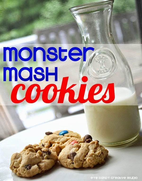 monster mash cookies, how to make, cookie recipe, milk & cookies