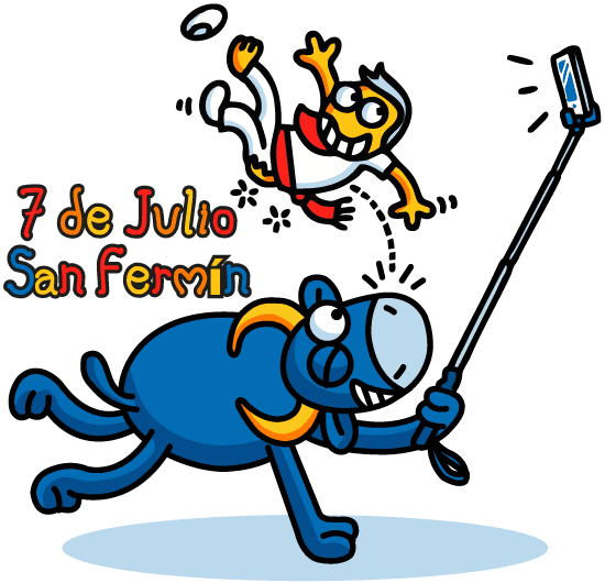 7 de Julio San Fermín - vector