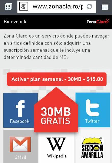 Internet Gratis Telcel usadon Zona Claro