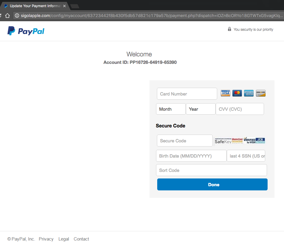 Responding to a PayPal Phishing Attempt | Luke GJ Potter Presents