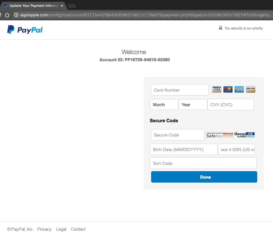 Responding to a PayPal Phishing Attempt | Luke GJ Potter