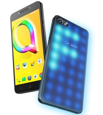 Alcatel A5 front and rear view