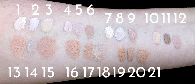 Concealer Swatch NARS Urban Decay MAC Tarte Maybelline NYX
