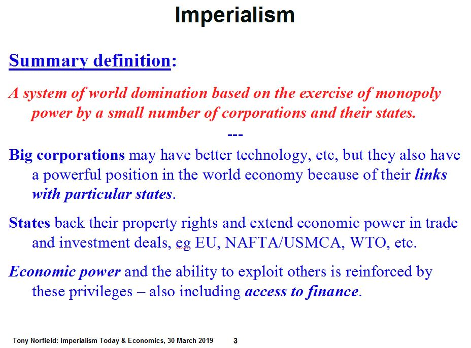 Economics of Imperialism: Economic Analysis & Imperialism Today
