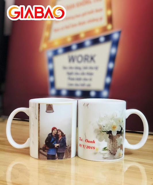 Hình ảnh ly sứ được Gia Bảo sản xuất dành cho các cặp tình nhân
