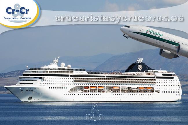 ► Asociación entre Alitalia y MSC Cruceros para el transporte de cruceristas a Cuba