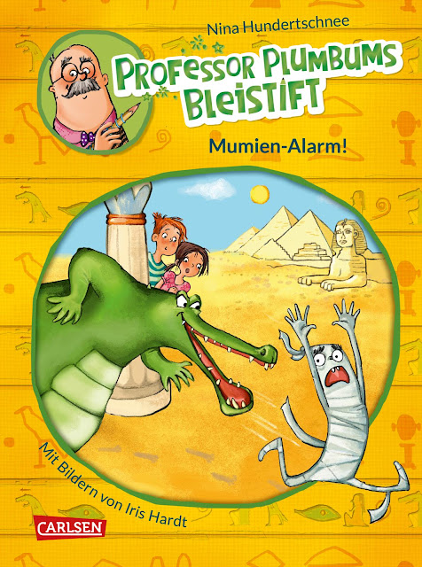 """Heute ein Buch! In der Welt der Phantasie unterwegs mit """"Professor Plumbums Bleistift"""". Mit Band 1 """"Mumien-Alarm!"""" beginnt die Kinderbuch-Reihe."""