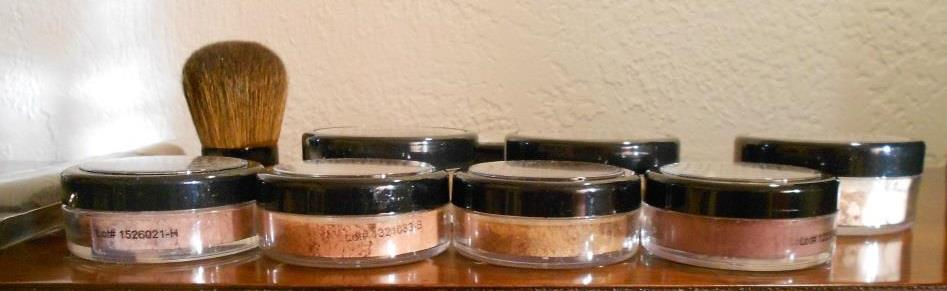 Demure Mineral Cosmetics mineral blushes & kabuki brush