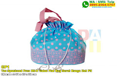 Tas Spunbond Pres HS-H Value Flat Bag Serut Bunga Dot FN